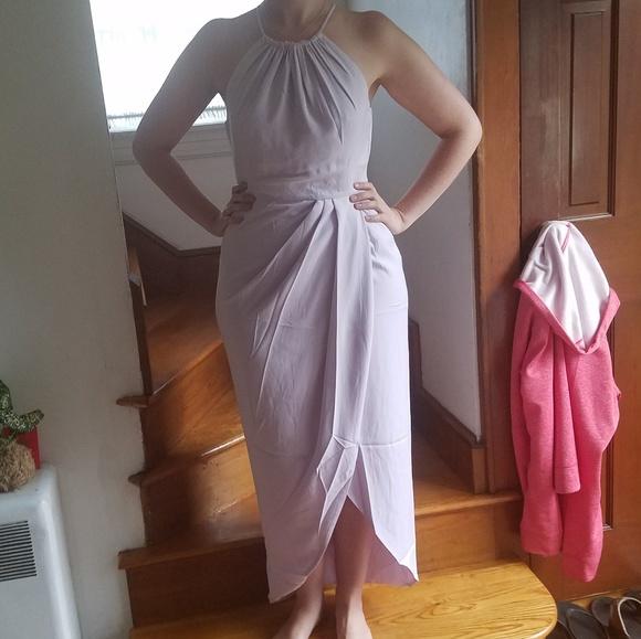 1f4cb83965b Core High Neck Ruched dress Shona Joy